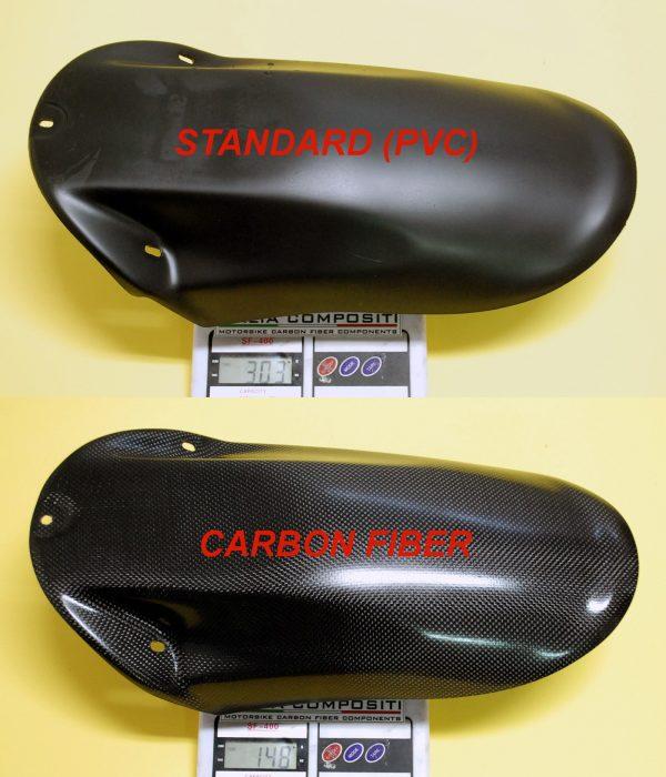 Parafango posteriore Aprilia Rs 250 - Confronto peso